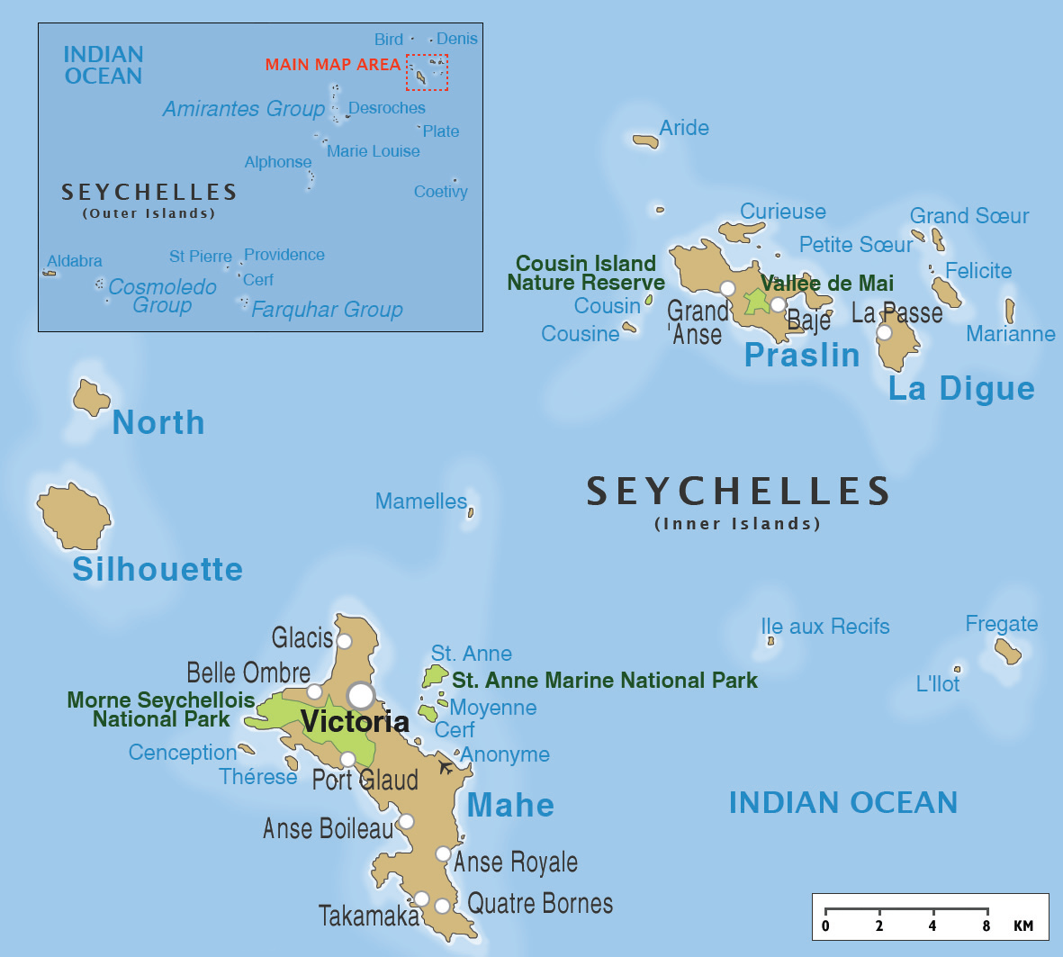 Seychelles Day Of Round The World In Days - Map of seychelles world